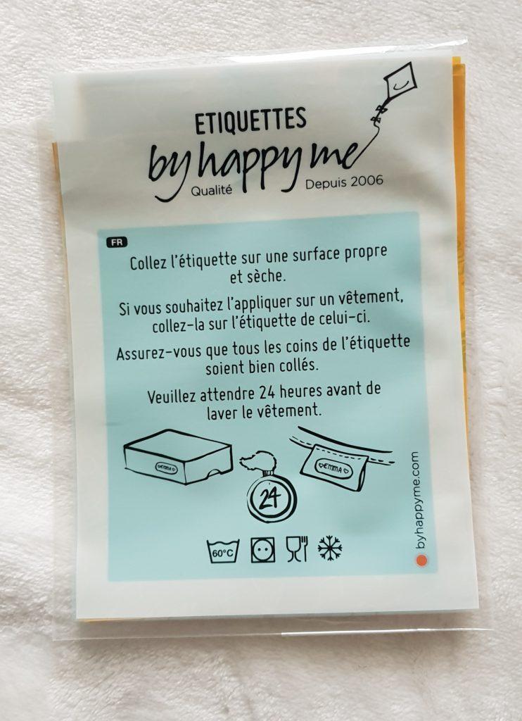 étiquettes byhappyme