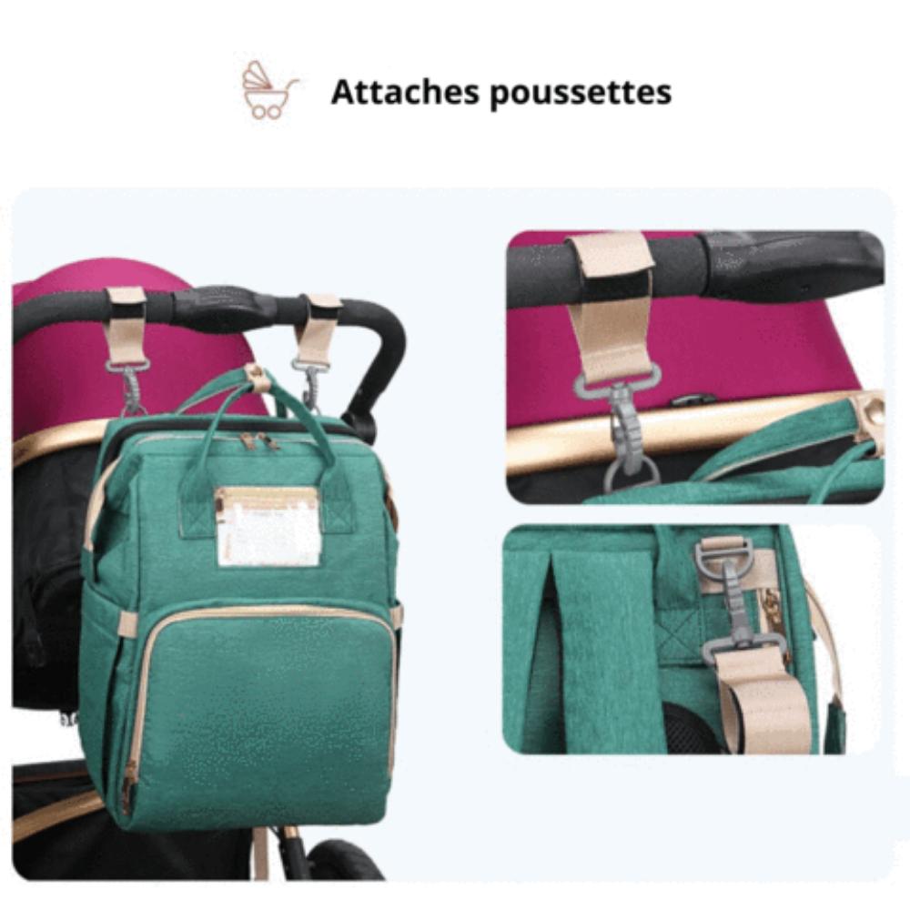 sac à langer avec lit intégré