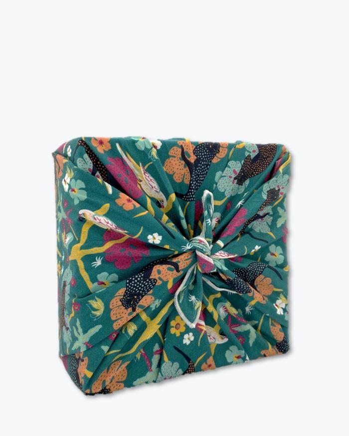 zéro déchet emballage cadeau réutilisable et lavable