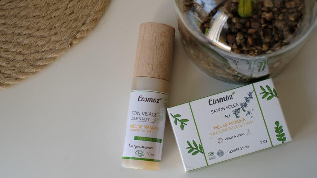 Cosmoz : mon avis sur le savon solide et le soin visage